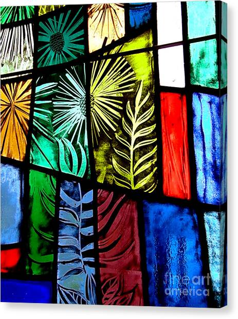 Stained Glass 3 Canvas Print by Windi Rosson