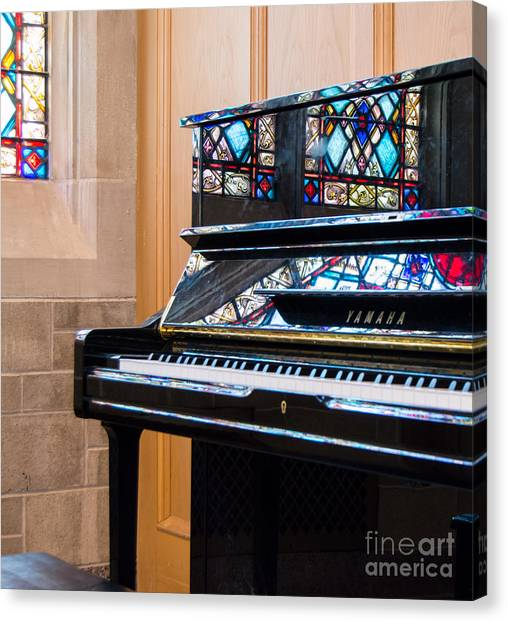 Northwestern University Canvas Print - Stained Glass by Lisa Richards