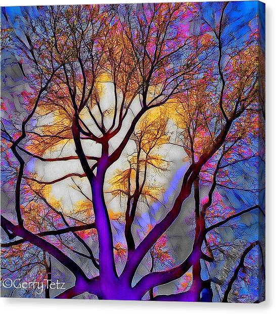 Stained Glass Sunrise Canvas Print