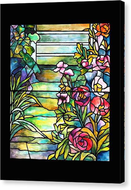 Stained Glass Tiffany Robert Mellon House Canvas Print