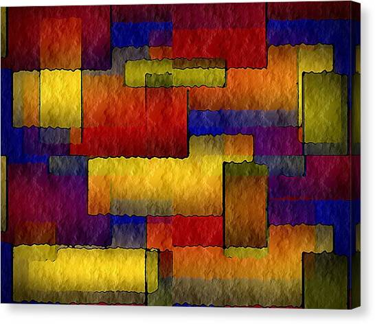 Stained Glass Wall Canvas Print by Terry Mulligan