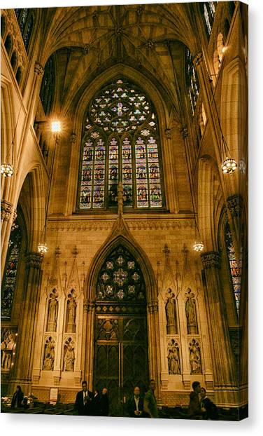 Patrick Canvas Print - Stained Glass Windows by Jessica Jenney