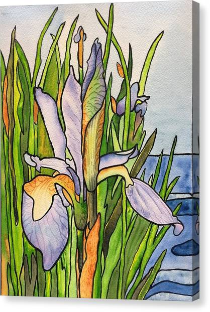 Stained Iris Canvas Print
