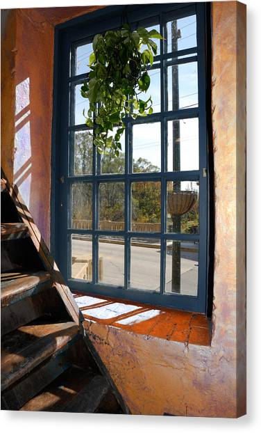 Stair Lit Canvas Print