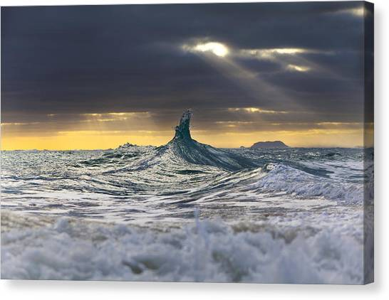 Dreamy Horse Canvas Print - Stair-wave To Heaven by Sean Davey