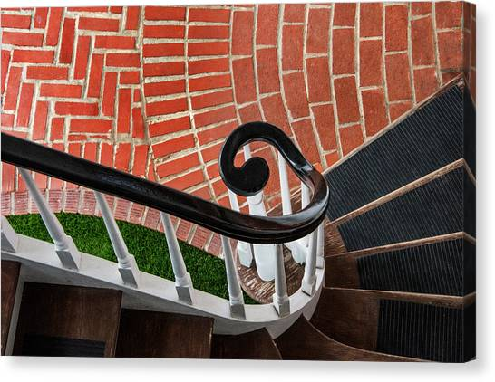 Staircase To The Plaza Canvas Print