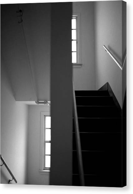 Staircase View Canvas Print by Matthew Altenbach