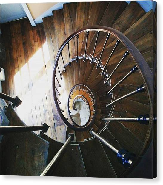 Vertigo Canvas Print - #stairs #escaliers #winding #staircase by Cat H