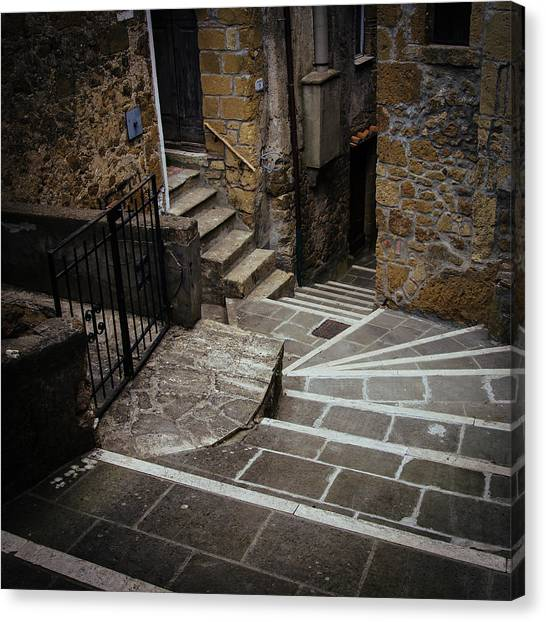 Stairs In Motion Canvas Print