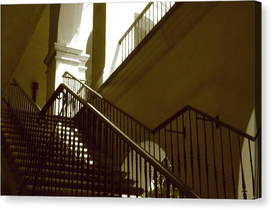 Stairs To 2nd Floor Canvas Print by Nicholas J Mast