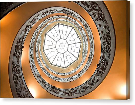 The Vatican Museum Canvas Print - Stairs To Heaven by Andre Goncalves