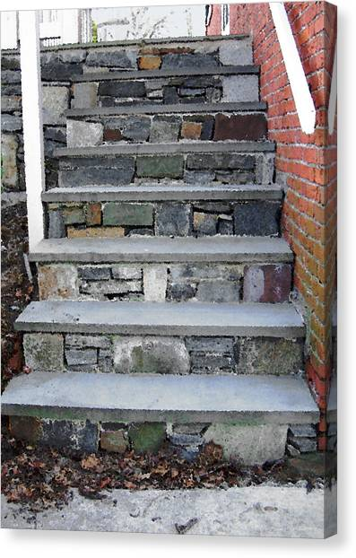 Starkey Canvas Print - Stairs To The Plague House by RC DeWinter