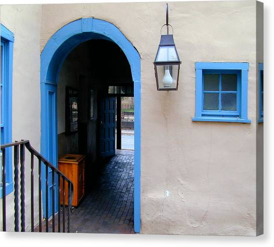 Canvas Print featuring the photograph Stairs To The Tunnel To The Door by Joseph R Luciano