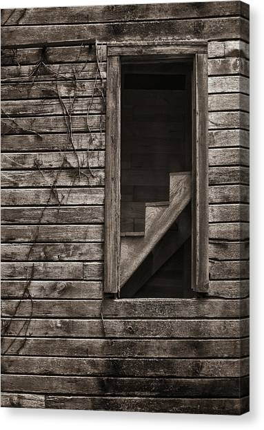 Stairs With A View Canvas Print