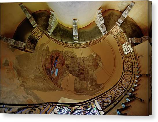 Canvas Print featuring the photograph Stairway Ellipse - Scala Ellisse by Enrico Pelos