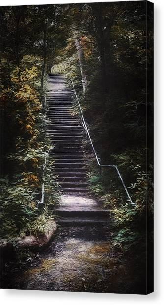 Impressionistic Canvas Print - Stairway by Scott Norris