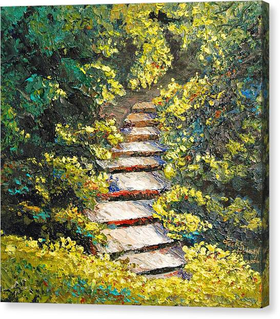 Stairway To Heaven Canvas Print by Cathy Fuchs-Holman