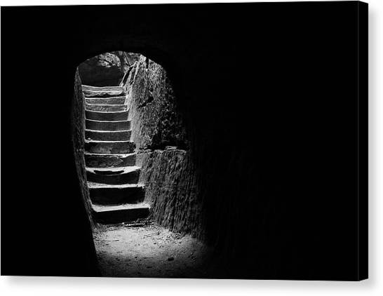 Ohio University Canvas Print - Stairway To Heaven At Hocking Hills State Park  by J Photo