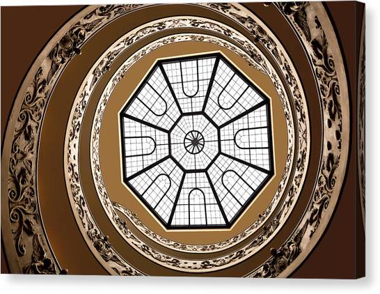 The Vatican Museum Canvas Print - Stairway To Heaven by Janet Fikar