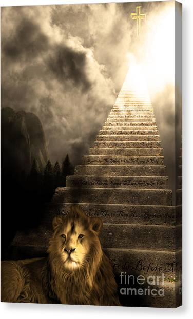 Led Zepplin Canvas Print - Stairway To Heaven V1 Sepia by Wingsdomain Art and Photography