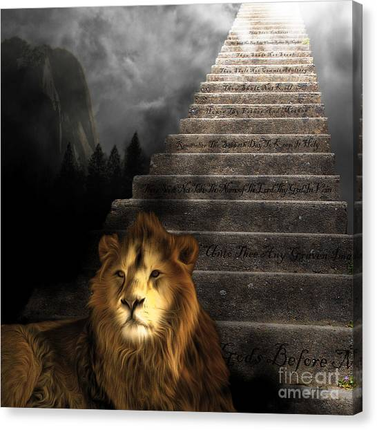 Led Zepplin Canvas Print - Stairway To Heaven V1 Square by Wingsdomain Art and Photography
