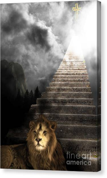 Led Zepplin Canvas Print - Stairway To Heaven V1 by Wingsdomain Art and Photography