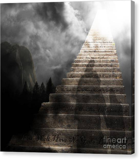 Led Zepplin Canvas Print - Stairway To Heaven V2 Square by Wingsdomain Art and Photography