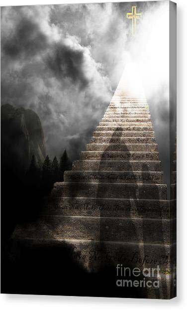 Led Zepplin Canvas Print - Stairway To Heaven V2 by Wingsdomain Art and Photography