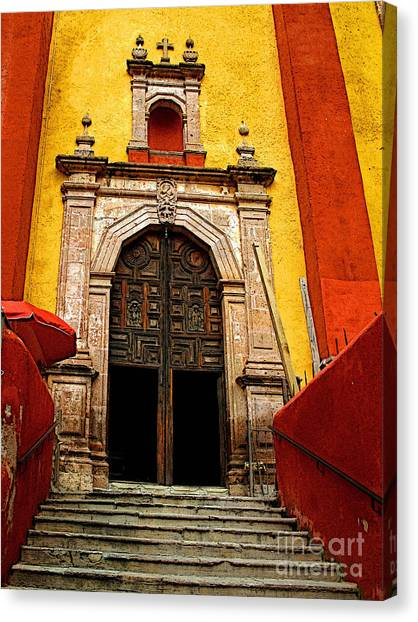 Stairway To The Cathedral Canvas Print by Mexicolors Art Photography