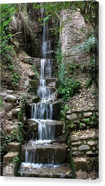 Stairway Waterfall Canvas Print