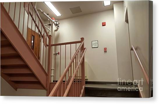 James Madison University Jmu Canvas Print - Stairwell At Zane Showker Hall by Ben Schumin