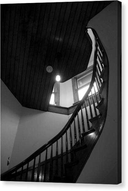 Stairwell To The Studio Crow's Nest Canvas Print by Robert Boyette