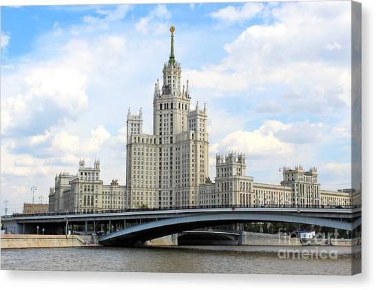 Kotelnicheskaya Embankment Building Canvas Print