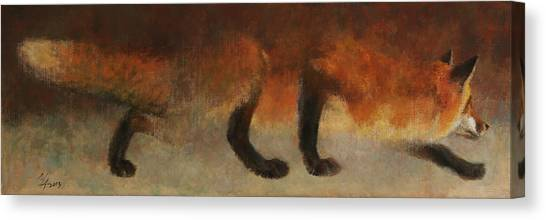 Stalking Fox Canvas Print