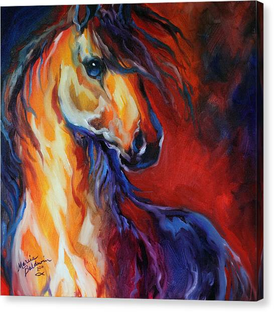 Stallion Red Dawn Canvas Print
