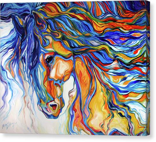 Stallion Southwest By M Baldwin Canvas Print