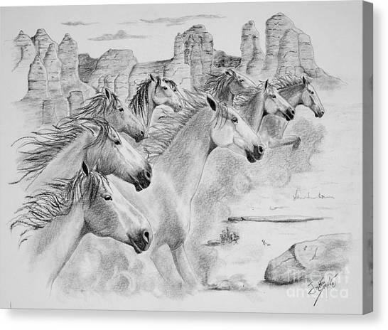 Stampede In Sedona Canvas Print