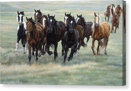Horse Farms Canvas Print - Stampede by JQ Licensing