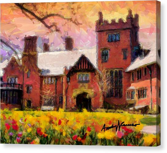 Stan Hewyt Hall And Gardens Canvas Print by Anthony Caruso