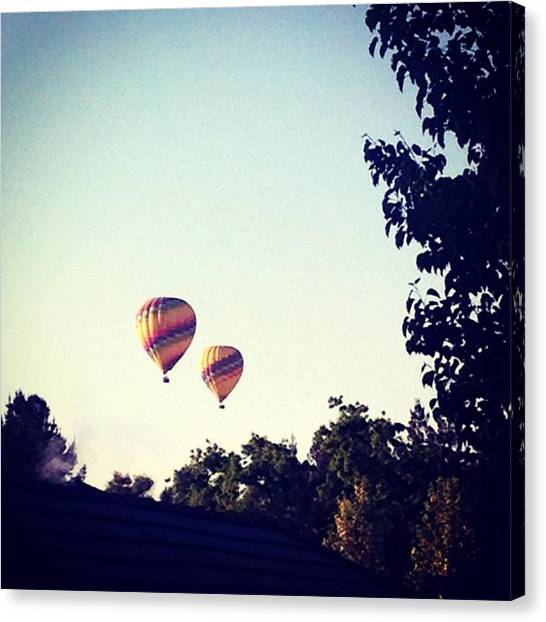 Hot Air Balloons Canvas Print - Hot Air Balloons by Emily Douglass