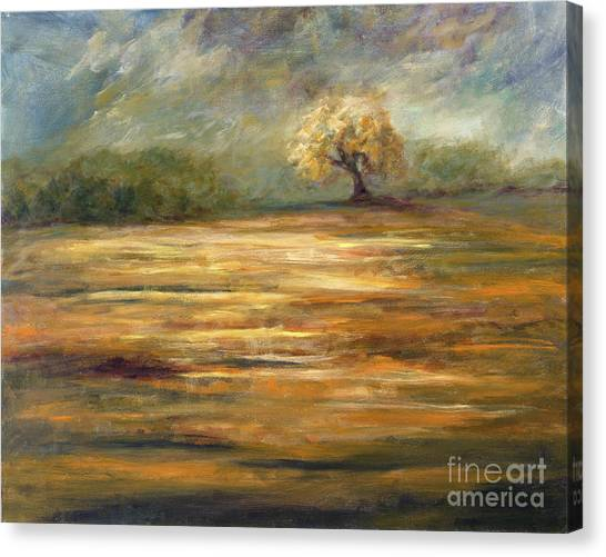 Standing Alone Canvas Print by Addie Hocynec