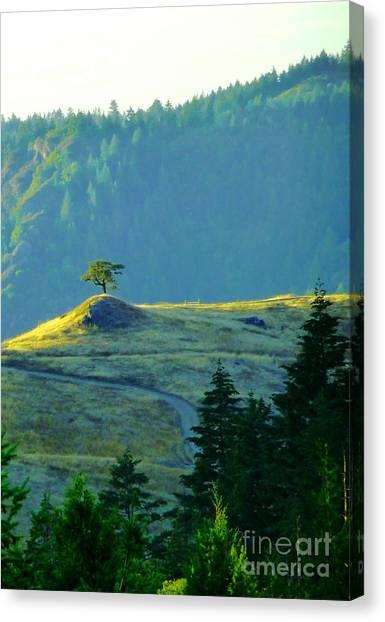 Standing Alone Canvas Print by JoAnn SkyWatcher