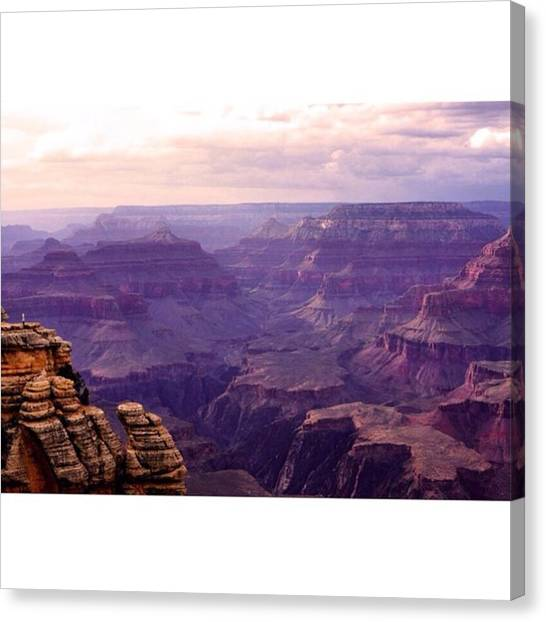 Scotty Canvas Print - Standing At The Edge Of The Worlds Scar by Scotty Brown