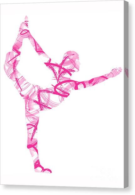 Yoga Pose Asana Standing Bow Pose Canvas Print