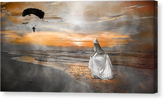 Paratroopers Canvas Print - Standing By My Word by Betsy Knapp