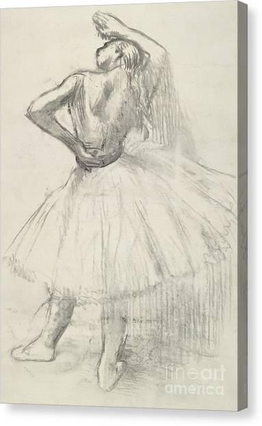 Edgar Degas Canvas Print - Standing Dancer, Right Arm Raised by Edgar Degas