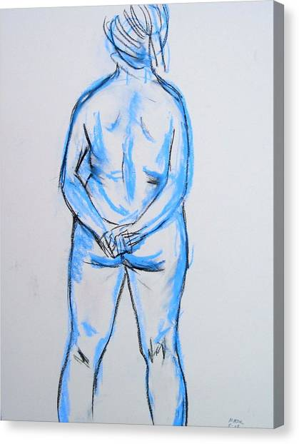 Standing Figure Canvas Print