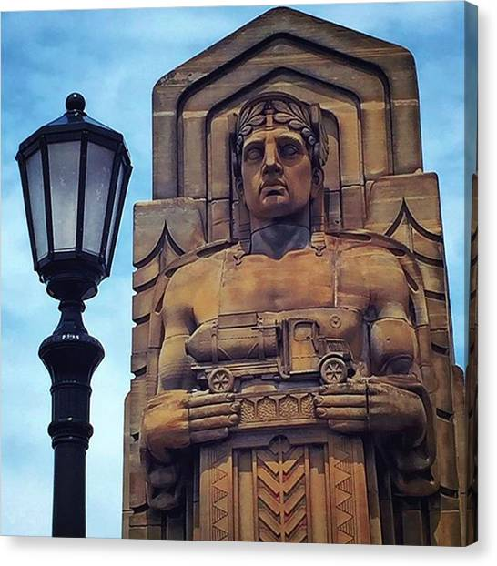 Art Deco Canvas Print - Standing Guard Over The Lorain-carnegie by Autumn Travels