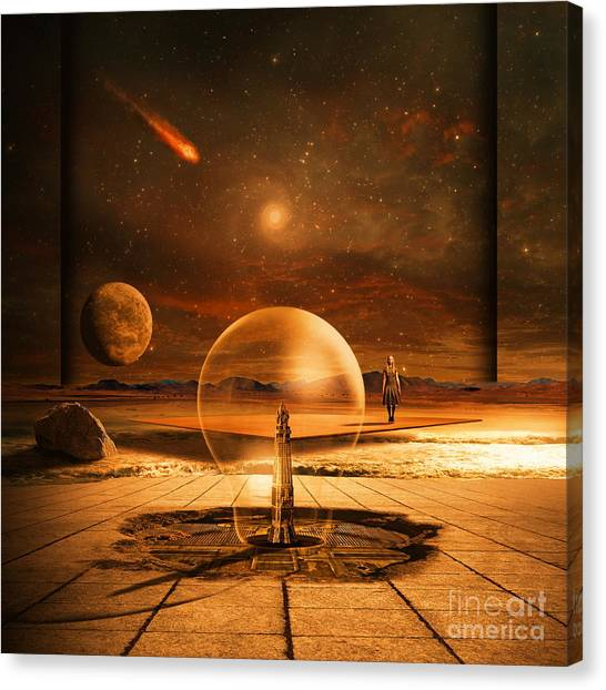 Shooting Stars Canvas Print - Standing In Time by Franziskus Pfleghart