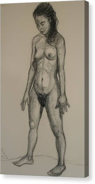 Standing Nude 5 Canvas Print